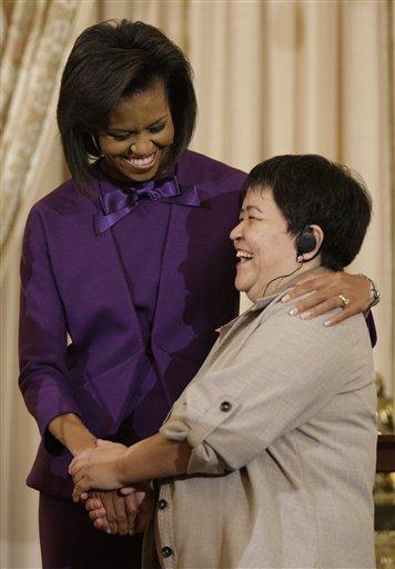 Michelle Obama, Mutabar Tadjibayeva,
