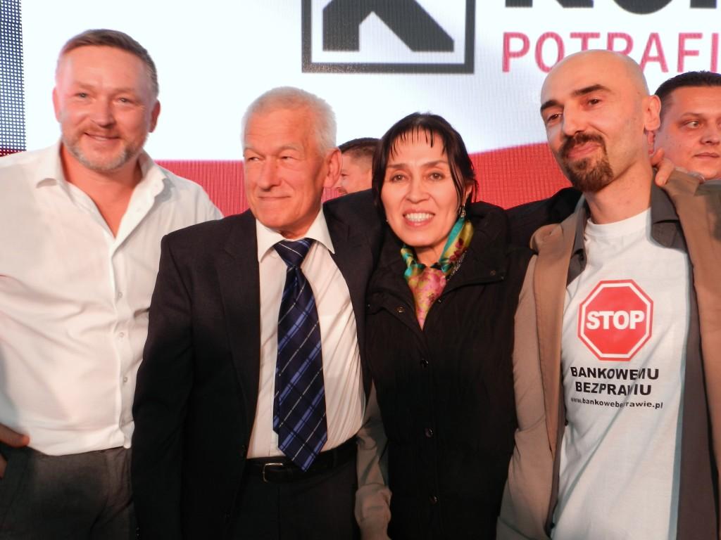 Konwencja wyborcza Kukiz '15 w Warszawie. Kornel Morawiecki Balli Marzec
