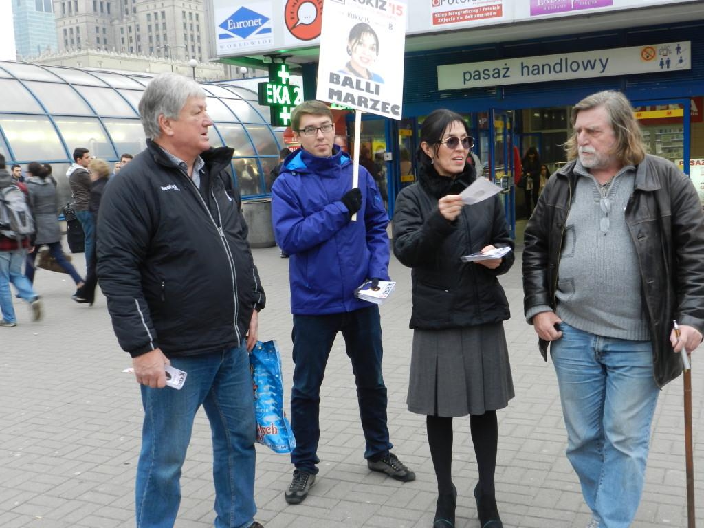 Spotkanie z wyborcami Warszawy Balli Marzec