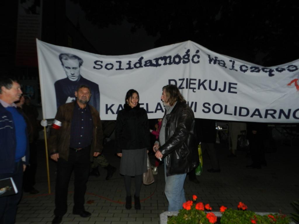W 31 rocznice śmierci bł. ks. Jerzego Popiełuszki składaliśmy razem z Solidarnością Walczącą kwiaty na jego grobie.