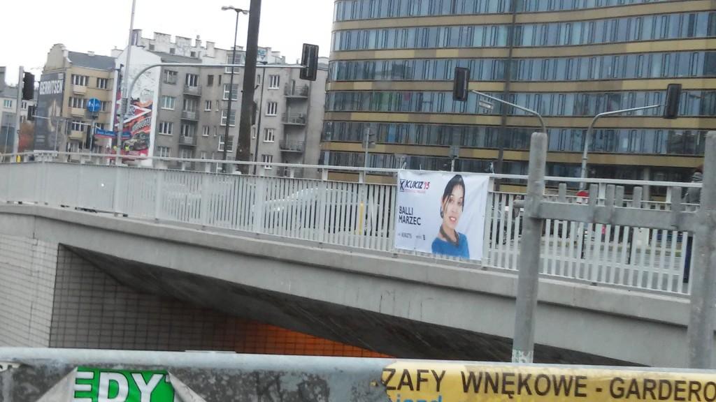 Warszawa banery wyborcze Balli Marzec