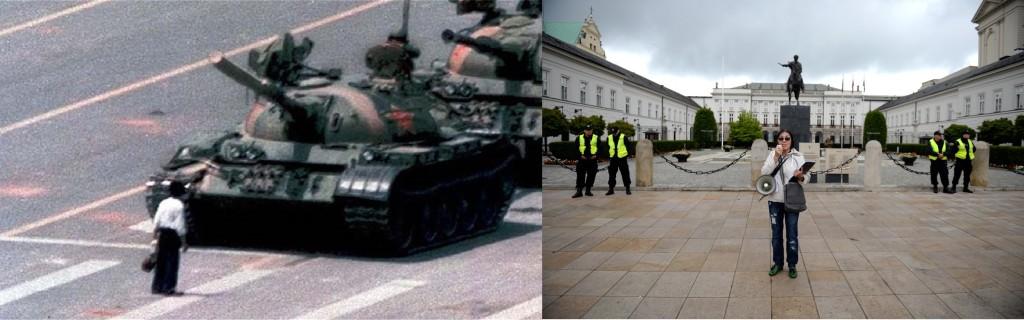 Kazachski Tiananmen Nazarbajewa w Warszawie. Głos Opozycji Kazachstan nie da się zabić, unosił się nad wizytą w Pałacu. Nazarbajew unicestwił Opozycje w kraju. Sama przeciw dyktatury Kazachstan.